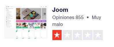 joom no es fiable por sus opiniones