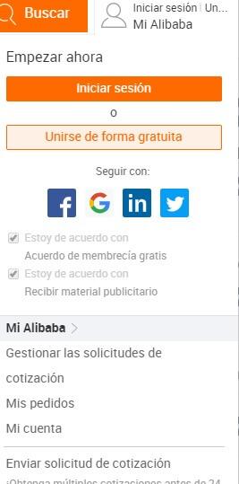 registrarse en alibaba online en español