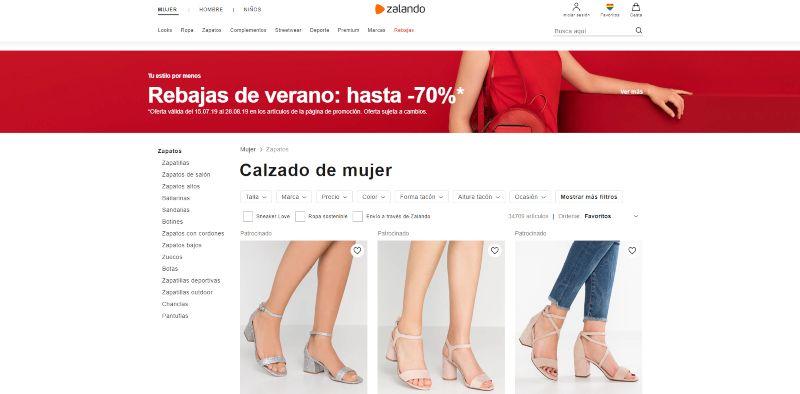 comprar zapatos por internet en zalando