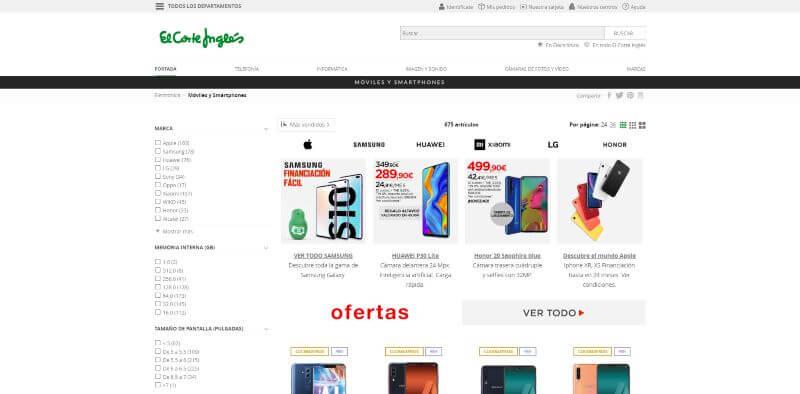 pagina para comprar moviles libres baratos en españa