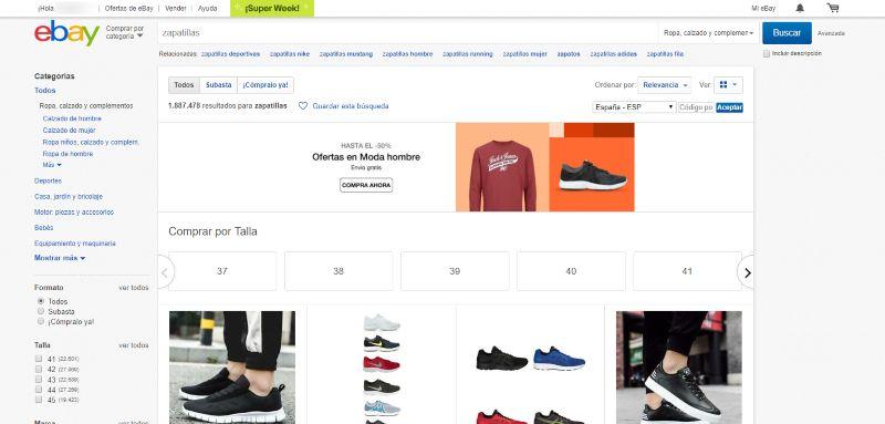pagina para comprar zapatillas online baratas