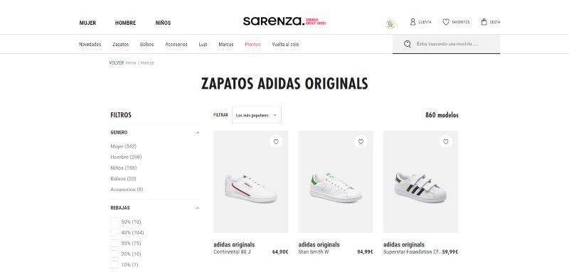 tienda de zapatillas baratas online