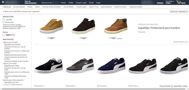 calzado economico en amazon